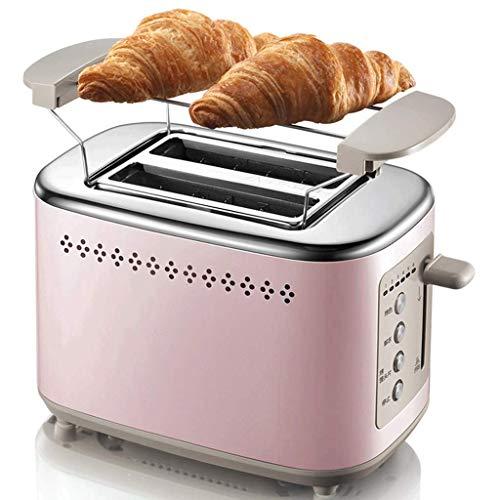 Mnjin Multifunktionaler Brotbackautomat Toaster 2 Slice, Compact Bread Toaster 2 Slice Prime mit 7 Bräunungseinstellungen Schnelles Toasten Auftauen Aufwärmen Abbrechen-Taste