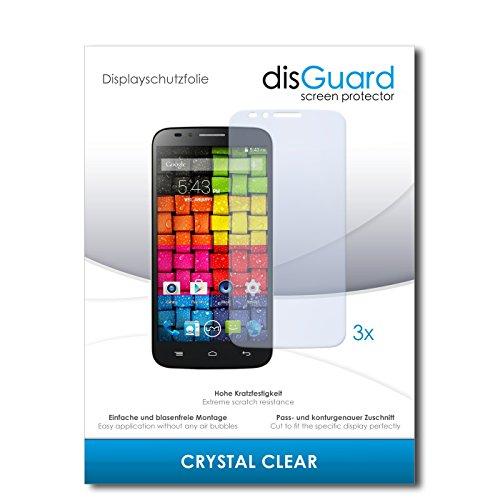 disGuard® Bildschirmschutzfolie [Crystal Clear] kompatibel mit UMI eMax [3 Stück] Kristallklar, Transparent, Unsichtbar, Extrem Kratzfest, Anti-Fingerabdruck - Panzerglas Folie, Schutzfolie