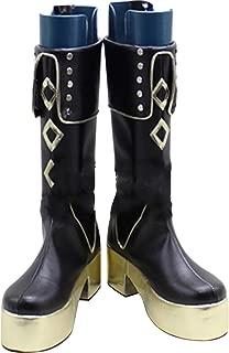 Mingchuan Whirl Cosplay Boots Shoes for Touken Ranbu Akashi Kuniyuki Long