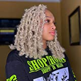 Butterfly Faux Locs Crochet Hair 12 inch Blonde Short Distressed Bob Locs for Black Women 3 Packs Pre Looped Natural Messy Butterfly Crochet Locs Pre-twisted Braids (12 Inch (Pack of 3), 613#)