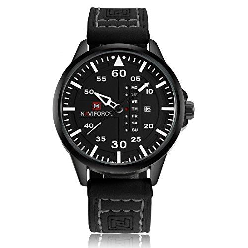 Naviforce - Reloj de cuarzo para hombre, estilo militar, estilo casual