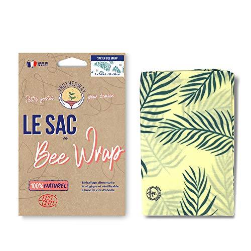 Anotherway Bee Wrap - Bolsa para alimentos reutilizable, de cera de abeja, tamaño grande, fabricado en Francia, regalo ecológico y cero.