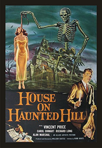 House on Haunted Hill, Vincent Price, Movie, Poster Art, Souvenir Magnet 2 x 3 Fridge Magnet