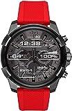 Diesel Herren-Armbanduhr DZT2006, Rot/Schwarz