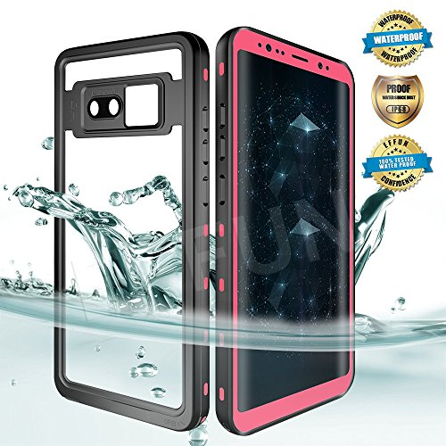EFFUN Samsung Galaxy Note 8 Waterproof Case, IP68 Certified Waterproof Underwater Cover Dust/Snow/Shock Proof Case with Phone Stand, PH Test Paper and Floating Strap for Samsung Galaxy Note 8 Pink