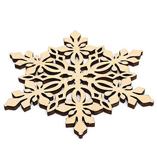 CHIC-CHIC 4PC Dessous de Verre Tasse Café Flocon de Neige Noël Christmas Ornement Décoratif Fête
