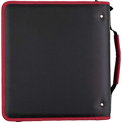 Five Star 2 Inch Zipper Binder, 3 Ring Binder, Expansion Panel, Durable, Red/Black (29052CE8) Photo #4
