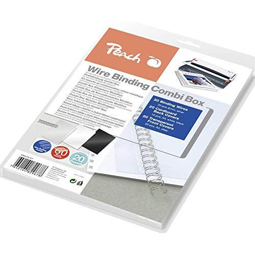 Peach PW079-07 Drahtbindeset für mindestens 20 Dokumente, DIN A4, 60-teilig