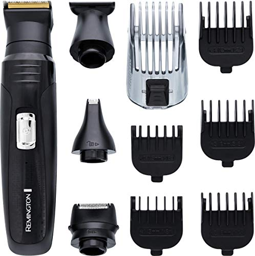 Remington 10-in-1 Multi Grooming Kit, Beard Trimmer with Foil Shaver, Nose, Ear and Eyebrow Hair Trimmer Attachments - PG6130