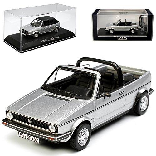 Norev Volkwagen Golf I Silber Cabrio mit abnehmbarem Dach 1979-1993 1/43 Modell Auto mit individiuellem Wunschkennzeichen