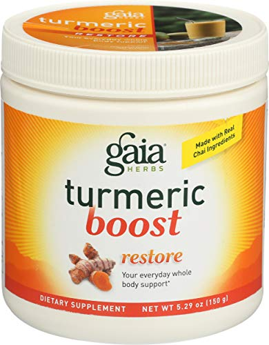 Gaia Herbs Turmeric Boost Restore Supplement, 5.29 Ounce - Healthy Inflammatory Response, Prebiotic Blend, No Added Sugar