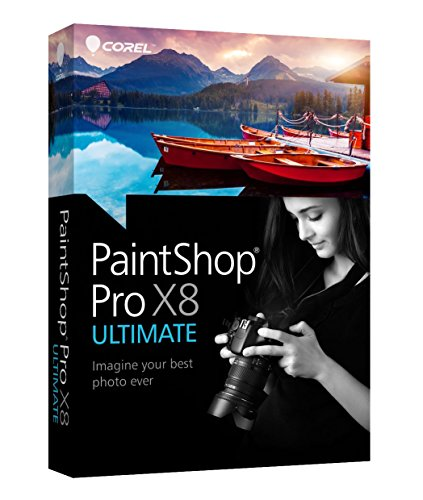 Corel PaintShop Pro X8 Ultimate - Software de gráficos (Caja, Completo, PC, Intel/AMD, 1024 x 768 Pixeles, Windows 10 Education, Windows 10 Education x64, Windows 10 Enterprise, Windows 10 Enterprise x64, Wi)
