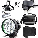 E-Fun Faro Bicicletta Anteriore led luce luci per Bici Bicicletta MTB ,Torcia da testa Lampada frontale Bici Faro,( 3 Modalità,7 LED)CREE 7X Cree XML di Luce led bici & Torcia a LED da Portachiavi