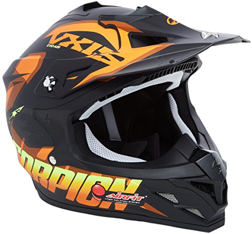 Scorpion Casco moto VX-15 EVO AIR DEFENDER Opaco Nero-Arancia L