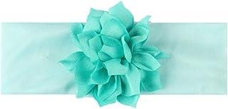 QAZ Baby Headband Turban Newborn Baby Girl Headbands Elastic Kids Toddler Hair BandBaby Hair Accessories,style 1 blue