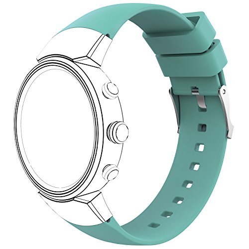 AWINNER Sport Bands Compatible for ZenWatch 3,Replacement Band Perforated Breathable Accessories Fitness Wristband Fashion Strap Compatible for ASUS WI503Q-SL-BG ZenWatch 3 Women Men (Cyan)