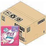 【ケース販売】 ポイズ 肌ケアパッド 多い時も安心用(レギュラー)120cc 20枚 ×6パック入り (女性の軽い尿もれ用)