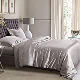 ElleSilk Silver Silk Duvet Cover, 22 Momme Mulberry Silk, Kind to Skin,...