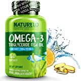 NATURELO Premium Fish Oil Supplement - 1100mg Triglyceride Omega - 3 - One