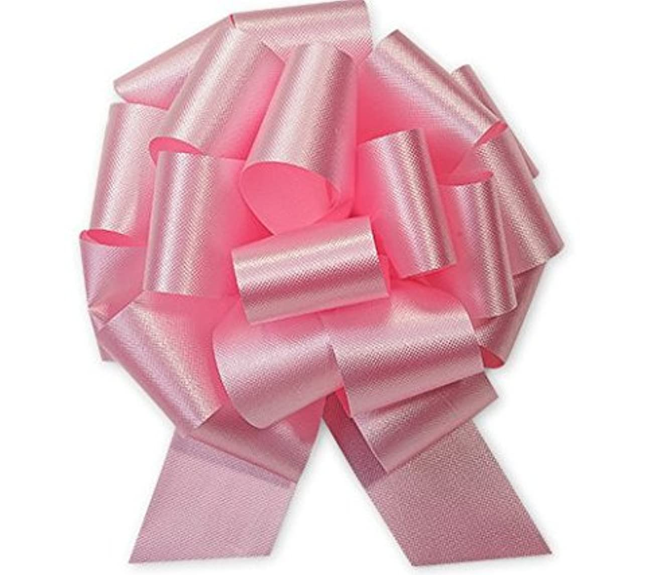 Pink Flora Satin 5.5 Inch 20 Loop - Set of 10 Gift Wrap Christmas Wedding Gift Wrap Pull Bows Pull String Bows