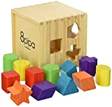 8pipa Well Crafted, Wood Shape Sorting Cube - Box Educational Toy for...
