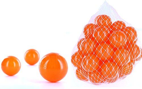 49 Bälle für ein Bällebad in der Farbe Orange für Kinder, Babys oder auch Tiere