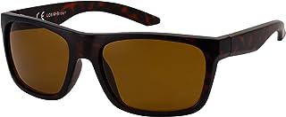 La Optica B.L.M. - La Optica Gafas de Sol LO8 UV400 Deportivas da Hombre y Mujer, Mate Negro (Lentes: marroné)