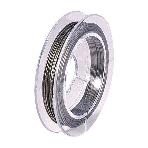 PandaHall – Lote de 10 m de largo, hilo de acero inoxidable, color acero inoxidable, 0,45 mm para manualidades joyas