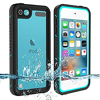 iPod Touch 7 Touch 6 Touch 5 Waterproof Case BESINPO Full-Body Protective Built-in Screen Protector Dustproof Shockproof Anti-Scratch Cover Case Compatible with Touch 7th/6th/5th Generation
