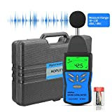 Digital Sound Level Meter,AP-882A Noise Level Meter Tester Range from 30-130dB,Digital Decibel Meter with LCD Backlight/Max Hold,/Sensitivity Adjustment and dBA/C Switch(Battery Included)