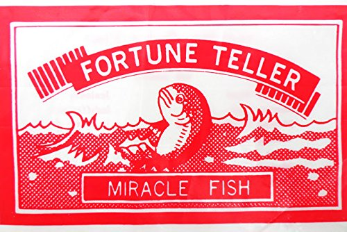 Fortune Teller Fish Novelty Toy/Party Bag Fillers, pack of 6