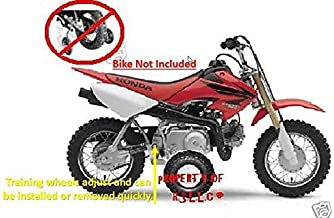RSLLC Adjustable Motorcycle Training Wheels for Honda CRF 50, XR 50 and Z 50 ONLY