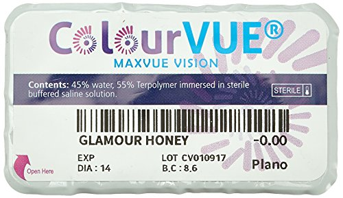 ColourVUE Glamour Honey 3 Months Disposable 14 mm Contact Lens