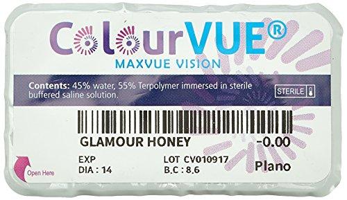 Farbige Kontaktlinsen Glamour Honig 3 Monate Einweg 14mm stärke 0.00 von ColourVUE entfernt