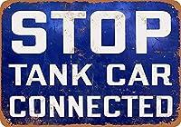 タンク車を停止 金属板ブリキ看板警告サイン注意サイン表示パネル情報サイン金属安全サイン