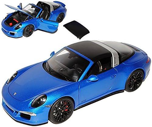 Schuco Porsche 911 991 Targa 4 GTS Blau Ab 2011 1 18 Modell Auto