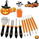 KOREY Kürbis Schnitzset, Halloween Kürbis Schnitzset, Professionelles von Edelstahl Pumpkin Carving Tools Set(11 Stück) für Halloween DIY Handwerk für...