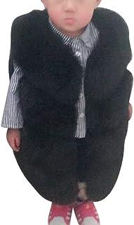 foreverH Baby Kinder Weste Fellweste M/ädchen Jungen Winterjacke Winter Warm Jacke Kinder /Ärmellos Wintermantel Mantel Outwear Coat Waistcoat Pelzweste Daunenweste Parka Steppweste