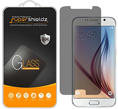Supershieldz (2 Pack) for Samsung Galaxy S6 Privacy Anti Spy Tempered Glass Screen Protector, Anti Scratch, Bubble Free