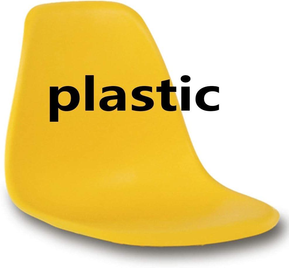 HEJINXL Chaises Salle Manger Coussin Plastique Hêtre Massif Les Jambes Glissent Pieds Pour Chaise Terrasse Cuisine Bureau Chaise(Porter Plus De 120 Kg) (Color : B) G