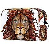 Bolsa para brochas de maquillaje personalizable, bolsa de aseo portátil para mujer, bolso cosmético, organizador de viaje The Lion King