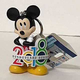 Disneyland Resort 2018 Mickey Mouse Figure Keychain The Year To Be Here