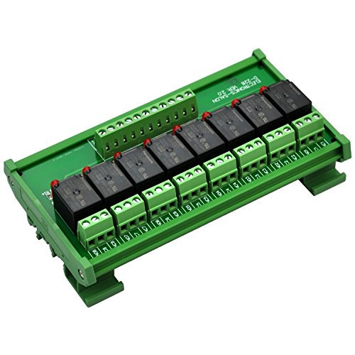 Electronics-Salon DIN Rail Mount 8 SPDT Power Relay Interface Module. (Operating Voltage: DC 24V)