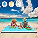 "Mtcegi 79""x83"" Sandproof Waterproof Picnic Beach Blanket Mat"