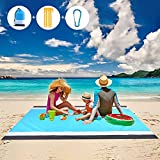 Picnic Blankets Beach Blanket Waterproof Sand Free Picnic Mat 79' X 83' Large Camping Blankets, for 2-7 Adults, Outdoor Blanket for Travel, Camping, Hiking