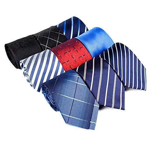 YAOSHI-Bow tie/tie Cravatte e Papillon per Cravatte da Uomo in Poliestere Cravatte da Uomo in Tessuto Set di 9 Pezzi Ideale per Matrimoni Missioni Danze Sposo Regali per sposi