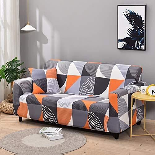 Fundas de sofá elásticas geométricas Fundas de sofá elásticas para Sala de Estar Protector de Muebles sofá Toalla Funda de sofá A27 4 plazas