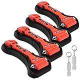 ELZO Paquete de 2 martillos de Seguridad automóvil 2 en 1 Herramienta de Escape de Emergencia para Romper la ventanilla y Cortar el cinturón de Seguridad Kit de Rescate y Supervivencia con Silbato