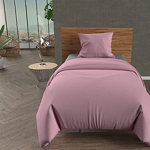 Soleil dOcre Leo överkast, polyester, 180 x 220 cm, rosa