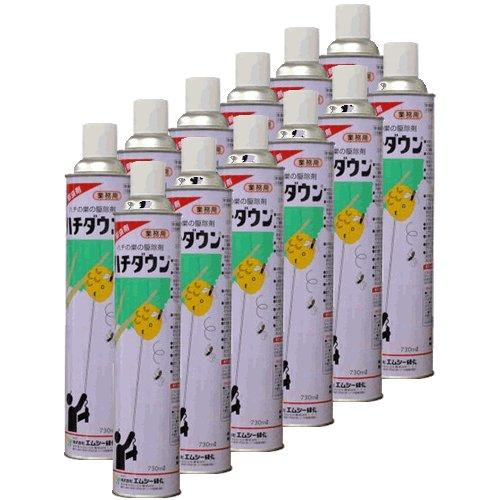 ススメバチ駆除専用駆除剤【業務用】730ml×12本【大容量エアゾールタイプ】